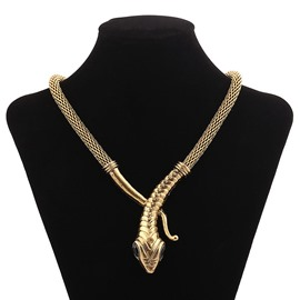 Ericdress Personal Diamante Diamante Snake Necklace for Women