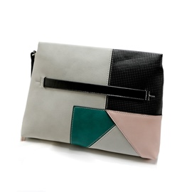 Ericdress Concise Color Block Zipper Women Clutch