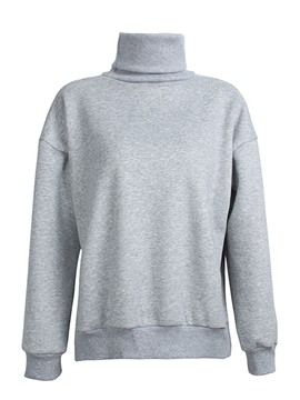Ericdress Turtleneck Loose Plain Cool Hoodie