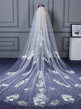 Ericdress One-Layer Appliques Long Wedding Veil