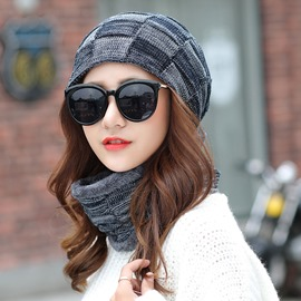 Ericdress Grid Warm Cozy Knitting Wool Fashion Hat