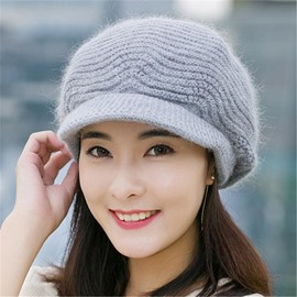 Ericdress Charming Soild Color Knitting Wool Women's Hat