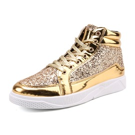 Ericdress Sequin Mid-Cut Plain Men's Athletic Shoes