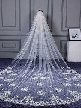 Ericdress One-Layer Lace Edge Appliques Wedding Veil