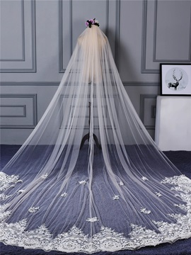 Ericdress Applique Edge Tulle Wedding Veil