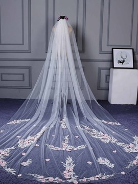 Ericdress Beautiful Appliques Color Wedding Veil