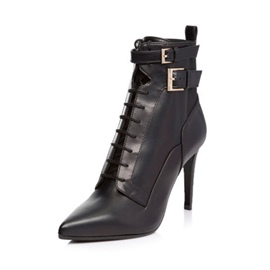 Ericdress Pointed Toe Stiletto Heel Women's Boots with Buckle