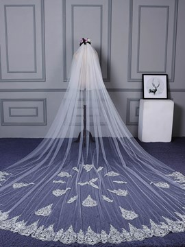 Ericdress Two-Layer Appliques Lace Edge Wedding Veil