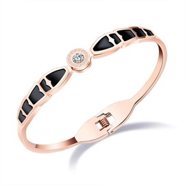 Ericdress Fashionable Sing Diamante Rose Gold Bracelet
