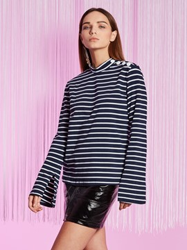 Ericdress Slim Color Block Stripe T-shirt