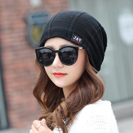 Ericdress Pure Color J&Y Patch Autumn&Winter Necessity Hat