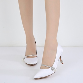 Ericdress Diamond Plain Slip-On Stiletto Heel Wedding Shoes