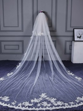 ericdress appliques tulle nupcial velo