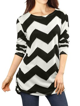 Ericdress Stripe Mid-Length Slim T-shirt
