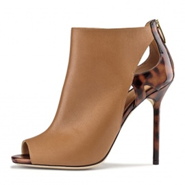 Ericdress Hollow Peep Toe Stiletto Heel Women's Boots