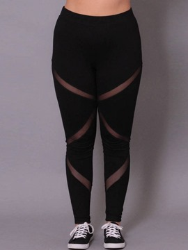 Ericdress Mesh Plus Size High-Waist Women's Leggings