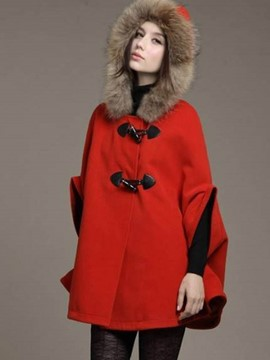 Ericdress Loose Mid-Length Plain Fur Cape