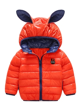 Ericdress Cute Rabbit Ear Hooded Thick Baby Boys And Girls Cotton Coat