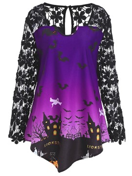 Ericdress Halloween Mid-Length Plus-Size T-shirt