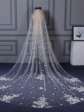 Ericdress Appliques Flowers Long Wedding Veil