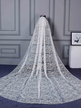 Ericdress Chic Lace Long Wedding Veil