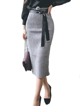 Ericdress Bodycon Mid-Calf High-Waist Women's Knit Skirt