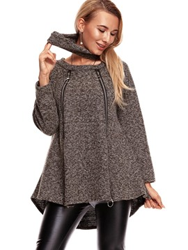 Ericdress Loose Mid-Length Plain Cool Hoodie