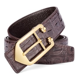 Ericdress Creative Solid Color Genuine Leather Men's Belt