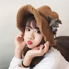 Ericdress Cute Pure Color Knitting Hat for Women