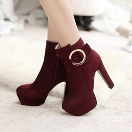 Ericdress Fashion Plain Platform High Heel Boots