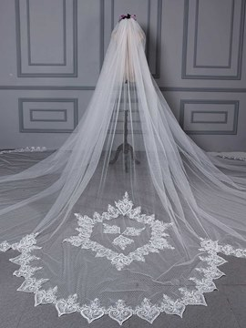 Ericdress Chic Applique Pattern Wedding Veil