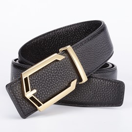 Ericdress Genuine Leather Smooth Buckle Women's Belt