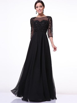 Ericdress Lace Floor-Length Expansion Maxi Dress