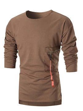 Ericdress Plain Pullover Round Neck Unique Men's T-Shirt