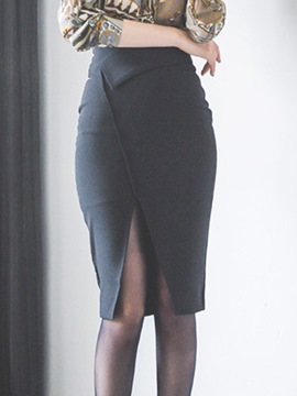 Ericdress Bodycon High-Waist Knee-Length Women's Skirt