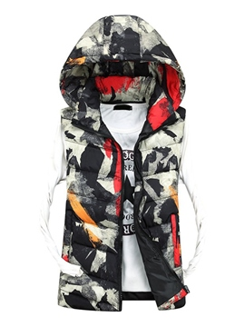 Ericdress Camouflage Print Zip Thicken Warm Men's Vest
