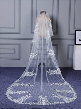 Ericdress Appliques Long Tulle Wedding Veil