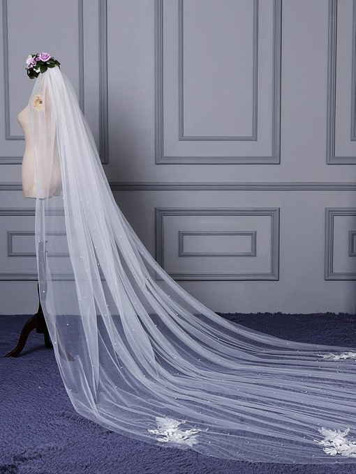 Ericdress Appliques Pearls Wedding Veil