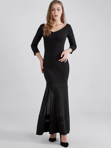 Ericdress See-Through Backless Ankle Length Mermaid Maxi Dress