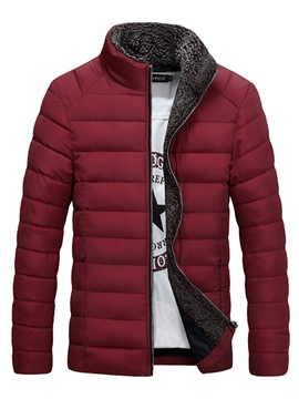 Ericdress Plain Stand Collar Thicken Warm Vogue Men's Winter Coat