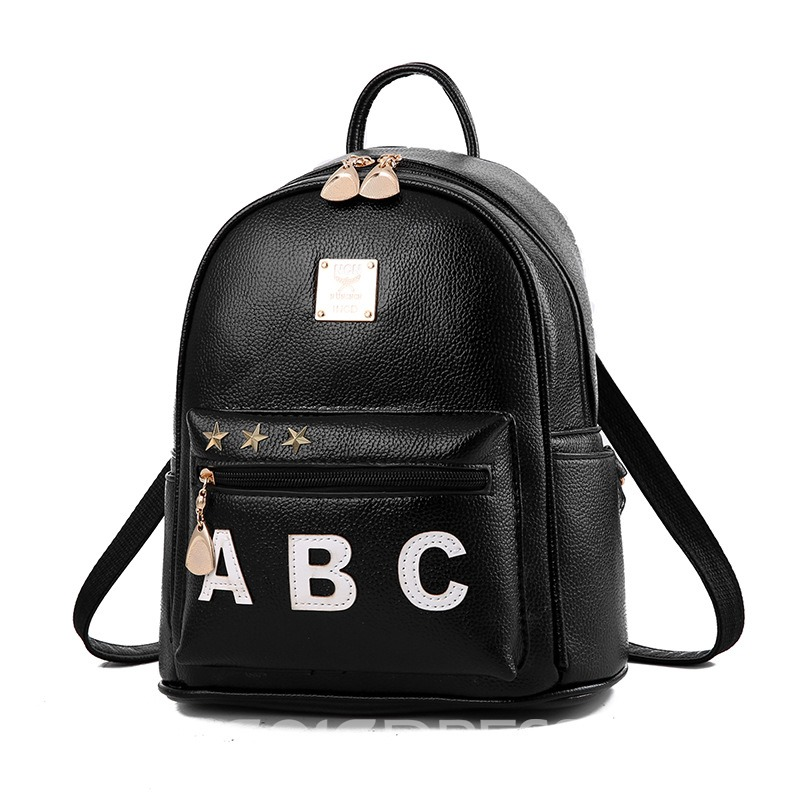 Ericdress Personality Badge Pattern Zipper Backpack
