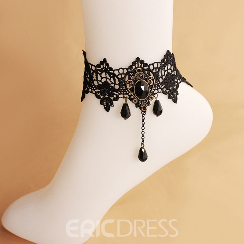Ericdress Vintage High Quality Black Lace Women's Anklet