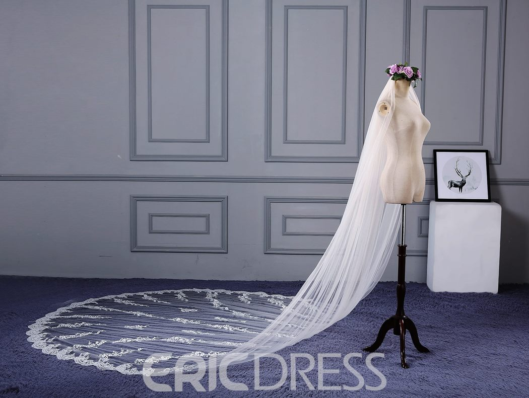 Ericdress High Quality Appliques Wedding Veil
