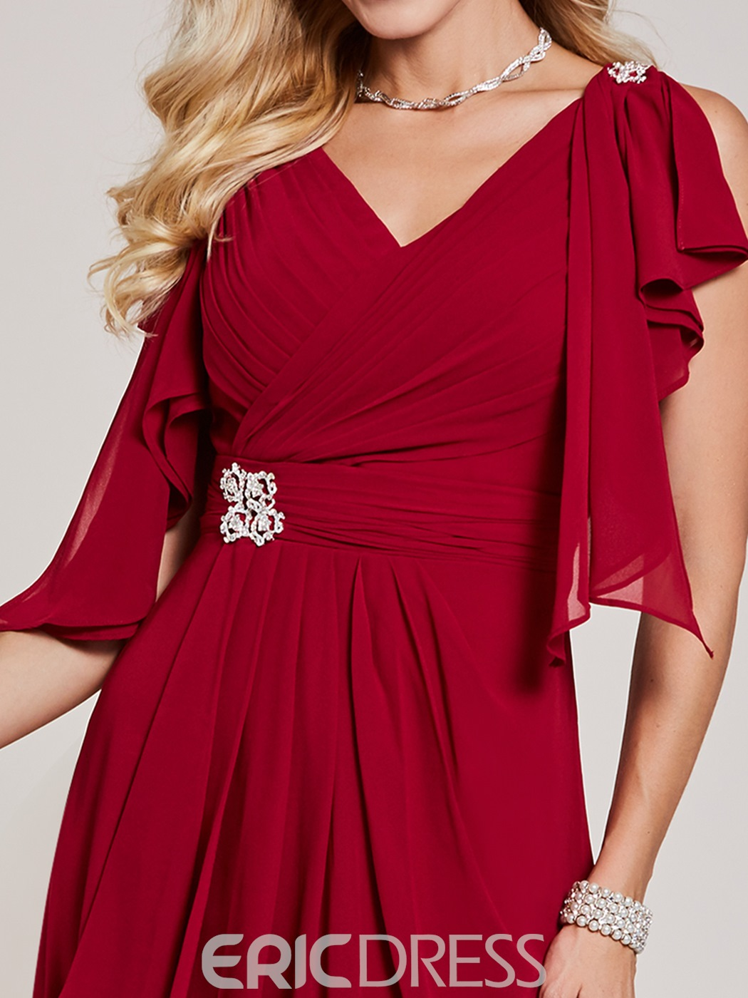 Ericdress Sexy Sheath Beaded One Shoulder Pleats Short Cocktail Party Dress