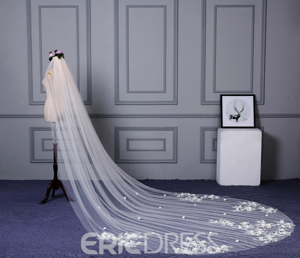 Ericdress Appliques Tulle Wedding Dress