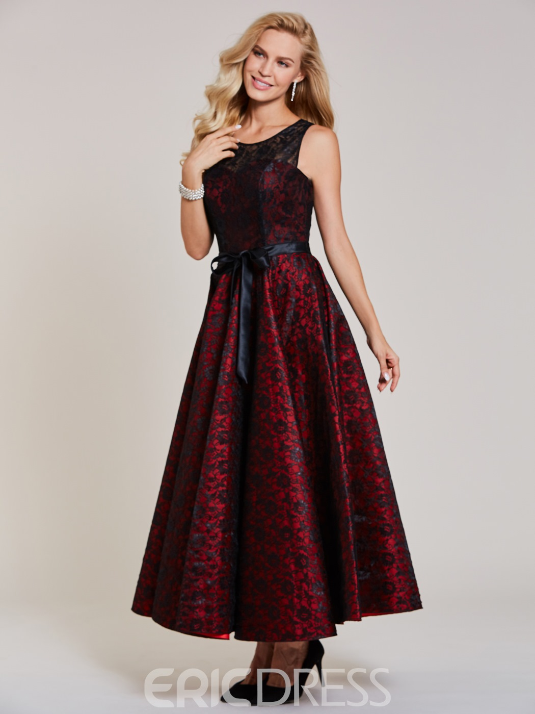 Ericdress A Line Lace Long Evening Dress