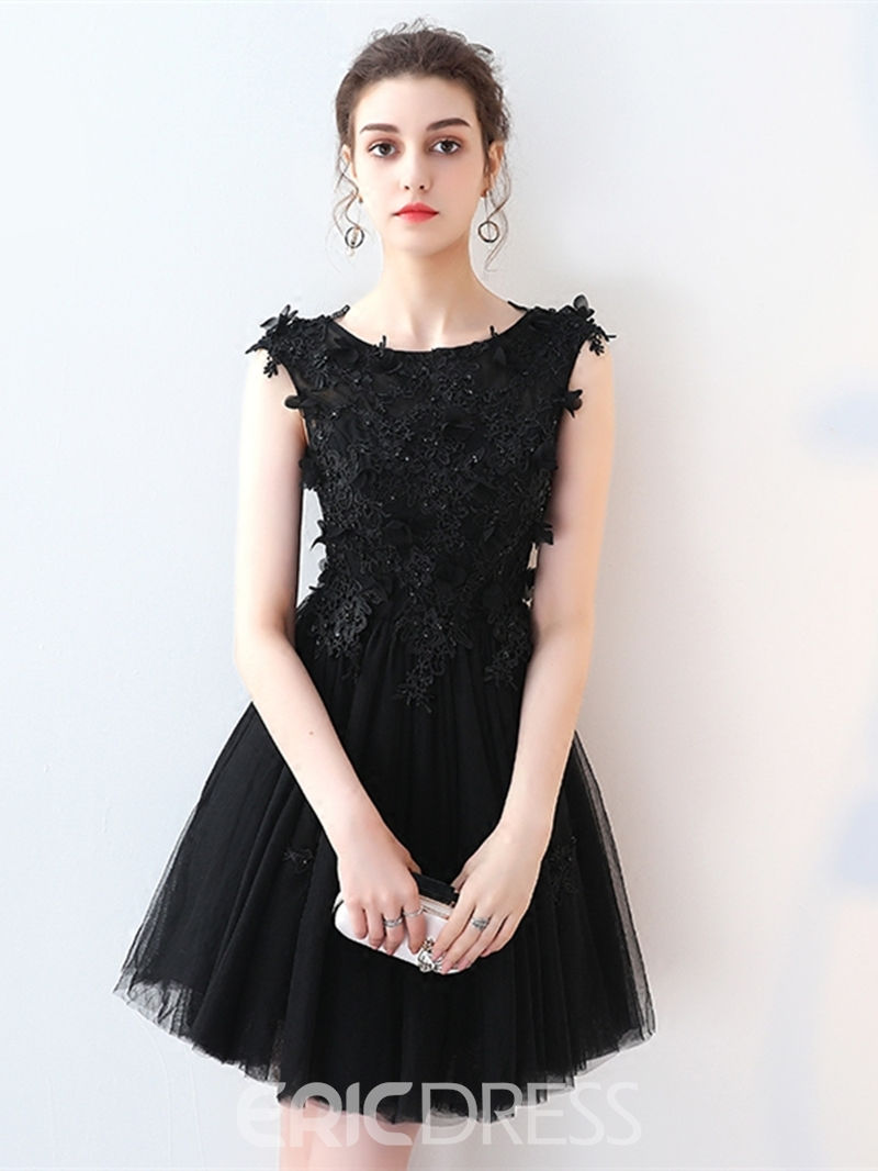 Ericdress A-Line Appliques Beading Lace Short Homecoming Dress