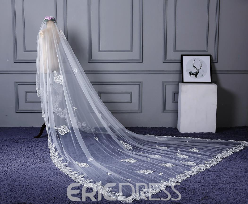 Ericdress Applique Edge One-Layer Appliques Wedding Veil