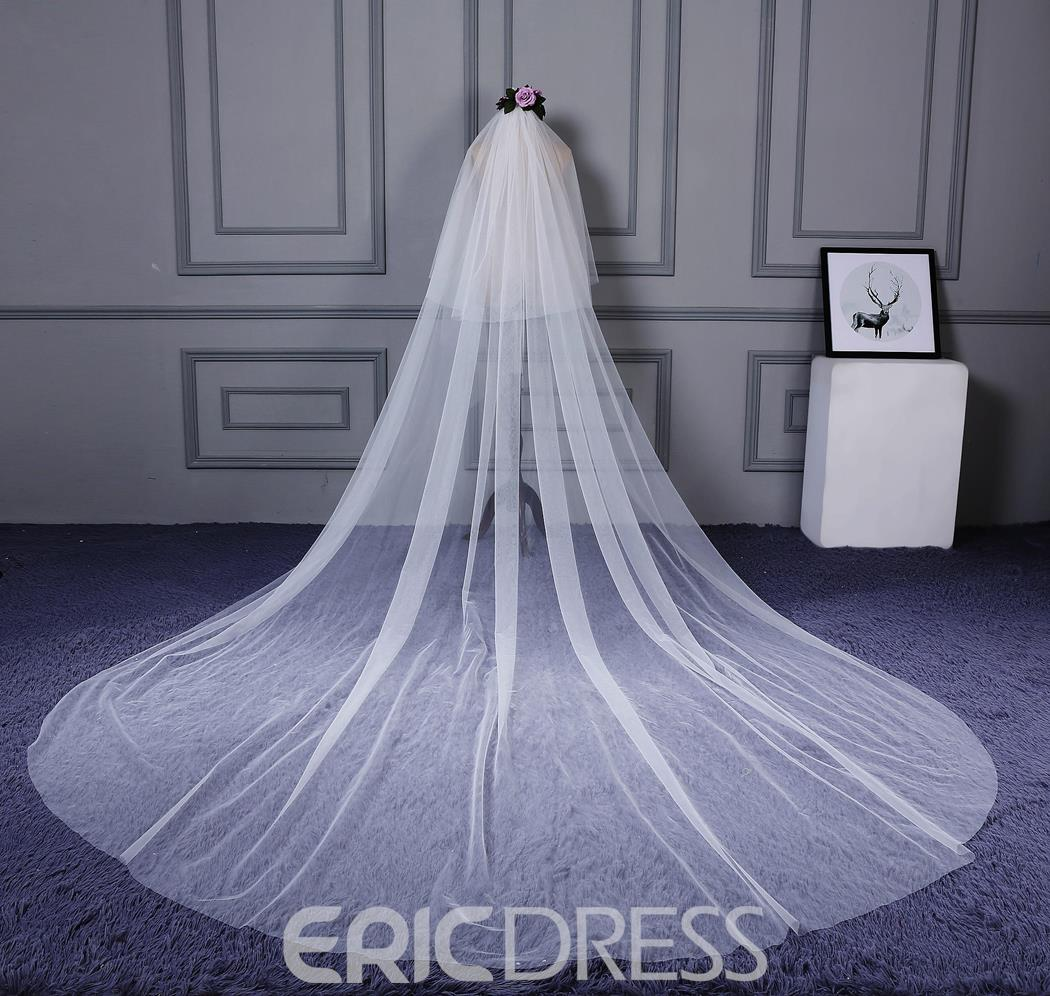 Ericdress Concise Tulle Bridal Veil