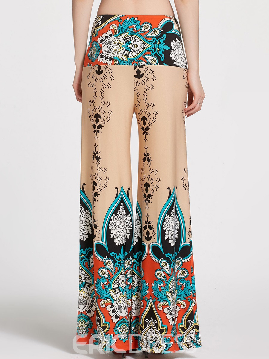 Ericdress Ethnic Style Wide Leg Women's Pants